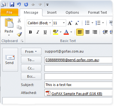 email to fax instructions image