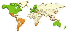 GoFax international fax zones Map
