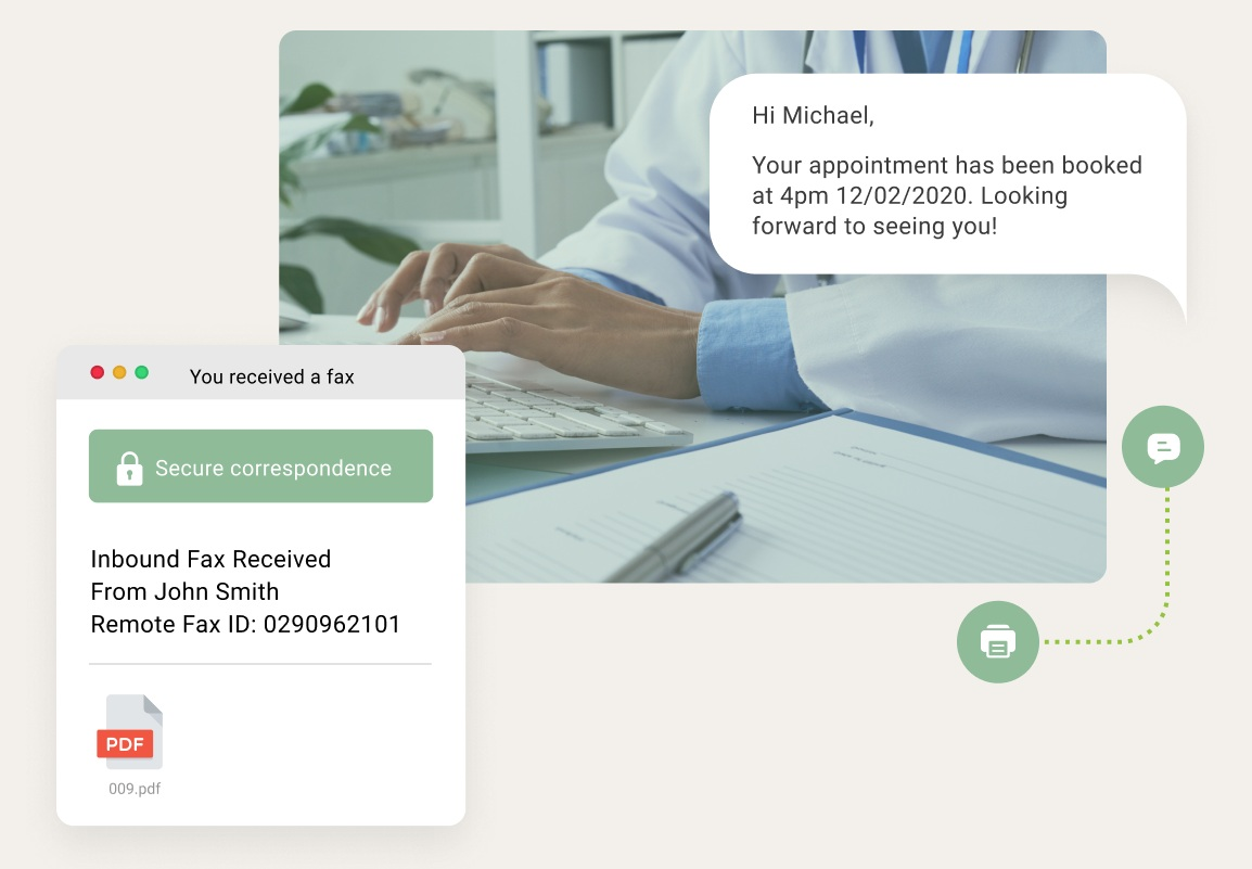 Industry-leading online fax & SMS solutions for healthcare